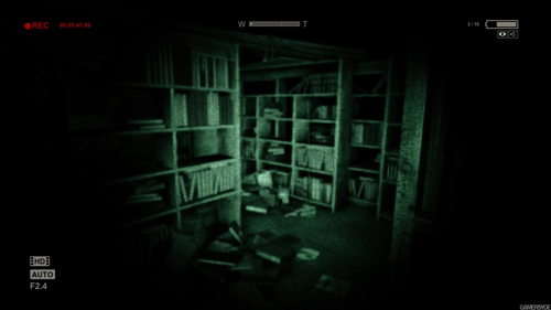 outlast-library-gamelay