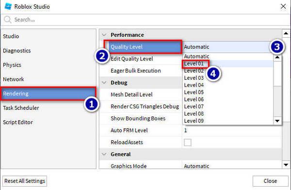 reduce-performance-quality-roblox-studio