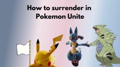 how-to-surrender-pokemon-unite
