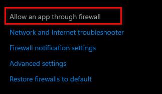 firewall error in minecraft