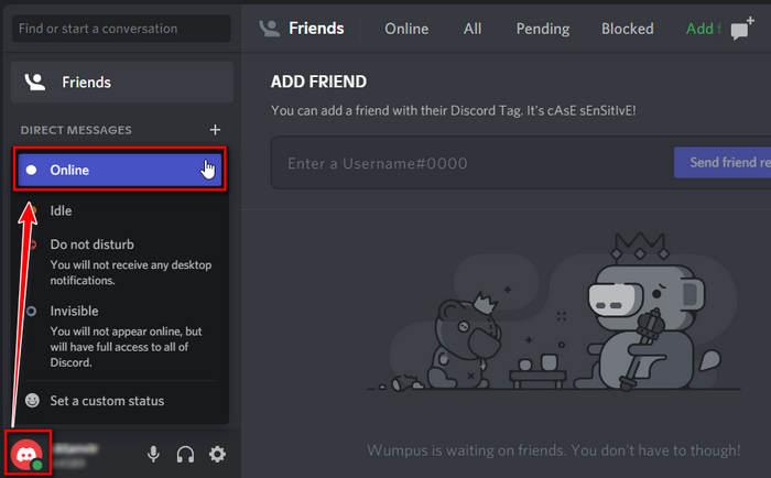 set-discord-activity-status-to-online